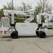 2004 TEREX TELELECT HI-RANGER TL38P BACKYARD BOOM/BUCKET ON RUBBER TIRED CARRIER