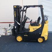 2002 Daewoo GC15S-2 propane forklift w/ cascade roll clamp attachment in CA