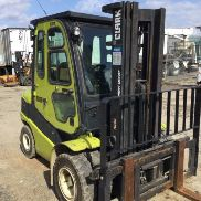 Clark Forklift Model C30D, Cab, Heater, Triple Mast, Dual For Wheels 5088hrs