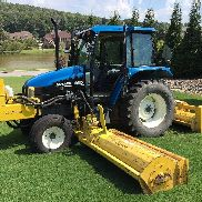 "2001 New Holland tractor -TS90 19'10"" Flail Mower"