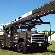 GENUINE INTERNATIONAL F1924 6X4 65 FT TANDEM AXLE CERTIFIED TECO BUCKET TRUCK