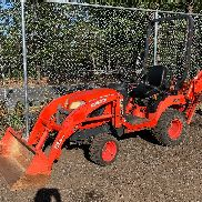 2011 Kubota BX25 4x4 Diesel Loader Backhoe HST Tractor Work Ready!