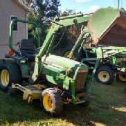 John Deere 855 Tractor w/ Loader and Belly Mower