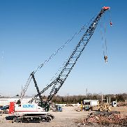 2014 LINK BELT 218 HSL 110 TON CRAWLER CRANE, 40 FT BASIC BOOM