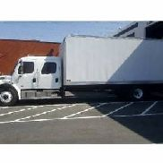 Freightliner M2 crew cab, extra cab 24ft box truck hino international peterbilt