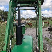 1966 4020 John deere tractor with 148 loader and 9' rhyno mower, can separate