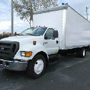 2007 FORD F-650 ~ 24FT BOX TRUCK ~ LIFT GATE ~ NIEDRIGE MEILEN ~ CUMMINS DIESEL