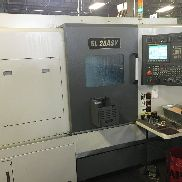 USED Samsung SL-25 ASY CNC Live Tool Turning Center Lathe Fanuc Sub Y Axis '13
