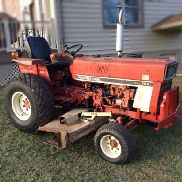 "INTERNATIONAL 284 30-HP DIESEL COMPACT FARM TRACTOR WITH WOODS 72"" BELLY MOWER"