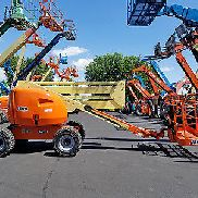 2007 JLG 450A 500LB PNEUMATIC ARTICULATING BOOM LIFT DUAL FUEL MAN LIFT 4X4