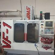 Used Haas VF-1 Vertical Mill Machining Center 4th 20x16 VMC Gear Box P-Cool 1998