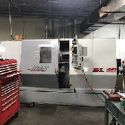 "Used Haas SL-40T CNC Turning Center Lathe 2 Axis Tailstock 4"" Bar Cap 15"" 1998"