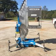 2005 Genie AWP-30S DC One Man Lift Electric Scissor JLG Skyjack Boom Push Around