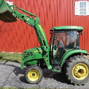 2010 JOHN DEERE 4320 4X4 COMPACT UTILITY CAB TRACTOR W/ LOADER HYDRO 1050 HRS