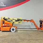2006 JLG E400AJPN 500LB CUSHION BOOM LIFT ELECTRIC MAN LIFT W/ JIB