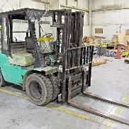 MITSUBISHI FG35 50HP FORKLIFT 6,809 HRS. 8,000 LBS. CAPACITY LP USED SOLD AS IS