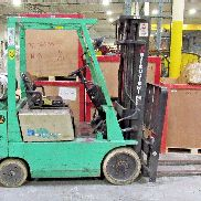 MITSUBISHI FGC25 FORKLIFT 10,176 HRS. 5,000 LBS. CAPACITY LP USED SOLD AS IS