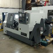 "USED Samsung SL-25 500 CNC Turning Center Lathe Fanuc Box Way 10"" 2014 Low Hours"