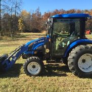 2012 NEW HOLLAND 3050 CVT 4X4 TRACTOR LOADER Enclosed Cab 150 HRS LOW COST SHIP