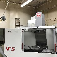 Used Haas VF-5 CNC Vertical Machining Center Mill CT40 Gear Box Side Mnt TSC '01