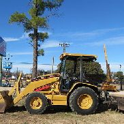 CATERPILLAR 416D SKIP LOADER LANDSCAPE WHEEL LOADER 4X4 GANNON BOX BLADE RIPPER