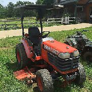 Kubota B2400 4X4 Farm Tractor W/6' Belly Mower Hydro Trans 3 Point Hitch