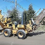 Case 560 Trencher with Backhoe attachment and Backfill Blade Kubota Diesel