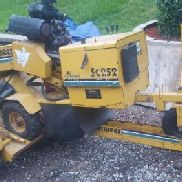 2001 Vermeer SC 252 25 hp stump grinder with 800 hr and trailer