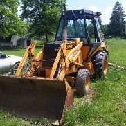Case 580D Construction King Backhoe Loader 580 D with extra attachments