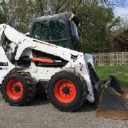 2011 Bobcat S650 Rubber Tire Skid Steer Diesel Cab AC Bob Cat Wheel Loader