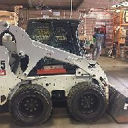 Bobcat S185 Used 2012 Skid-Steer Loader Earth Moving Machine Heated Cab Backhoe