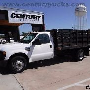 F350 6.4 DIESEL REGULAR CAB 12' FLAT BED STAKE SIDE WORK TRUCK LIFTGATE