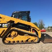 2016 Caterpillar 289D Rubber Track Skid Steer 2 Speed High Flow Cab AC 311 Hrs