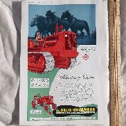 Allis Chalmers Tractor Large Full Page Advertisement from a Large Magazine
