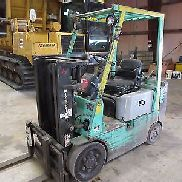 Mitsubishi FGC20, Forklift, Solid Tires, 4,000 lbs. Cap. Propane Powered!!!