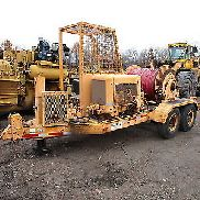 Sherman Reilly 6050 Cable Puller Trailer RUNS PERFECT Ford Gas Reel Tensioner
