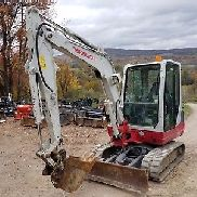 2012 TAKEUCHI TB235 EXCAVATOR ENCLOSED CAB WITH HEAT A/C READY TO WORK IN PA!