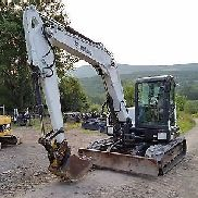 BOBCAT E80 EXCAVATOR CAB HEAT A/C READY 2 WORK IN PA! WE SHIP NATIONWIDE!
