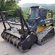DEERE 333D TRACK SKID STEER CHARGEMENT TOTAL FORE STRING FORESTRY MULCHER TRAVAIL PRÊT!