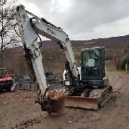 BOBCAT E80 EXCAVATOR 19K LB CLASS CAB HEAT A/C LONG ARM READY TO WORK IN PA!