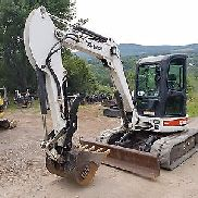 BOBCAT 435G EXCAVATOR LOW HOURS CAB A/C LONG ARM THUMB READY 2 WORK PA WE SHIP!