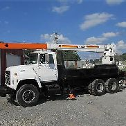 1986 FORD L8000 T/A STINGER CRANE 10-TON 56FT HEIGTH DIESEL Boom Trucks