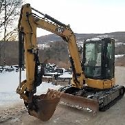 CATERPILLAR 305D CR EXCAVATOR CAB HEAT A/C HYDRAULIC THUMB NEW TRACKS NICE!