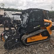 Mini chargeuse JCB 300T 2013 avec broyeur forestier Bradco MM60