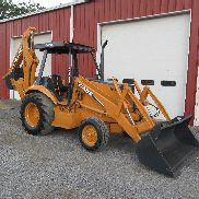 1990 CASO 580K LOADER BACKHOE 2WD OROPS SOLAMENTE 5425 HORAS BUENA RUNNING MACHINE