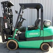 Mitsubishi Model FGC30K (2003) 6000lbs Capacity Great LPG Cushion Tire Forklift!