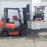 2003 Toyota Forklift Truck Triple Stage Propane Lift Pallet Stacker Jack Reach