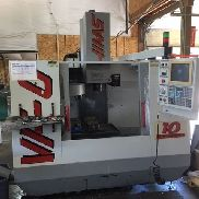 USED HAAS VF-0 CNC Vertical Mill 1995 Auger Rigid Tapping Clean Cheap HAAS CAT40