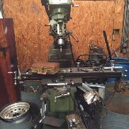 "USED CONVENTIONAL KNEE MILL MILLMAN 50 x 10"" Table X-Axis Power Feed Bridgeport"