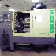 Hardinge Conquest T51 CNC Lathe Turning Center, Fanuc Control, LNS Barfeed